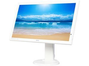 "BenQ GL2450HT White 24"" 2ms (GTG) Widescreen LCD/LED Monitors, 250 cd/m2 DCR 12,000,000:1 (1000:1), Built-in Speakers, Height Adjustment, VESA Mountable, DVI HDMI"