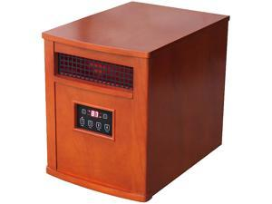 World Marketing QEH1500 Comfort Glow Infrared Quartz Heater with remote, Chestnut Oak Finish