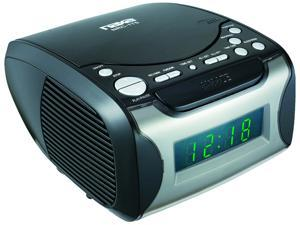 NAXA Electronics NRC-175 Digital Alarm Clock Tuning AM/FM Radio and CD Player - Black Lacquer