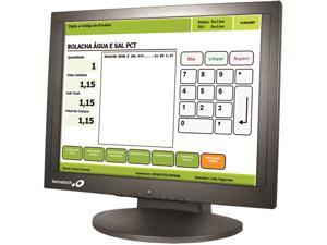 "Logic Controls LE1017 Black 17"" USB 5-wire Resistive Touchscreen Monitors Built-in Speakers"