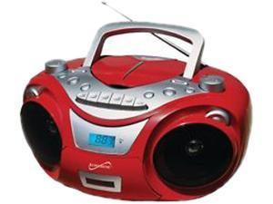 SUPERSONIC PORTABLE MP3 CD CASSETTE RED