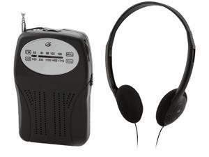 GPX R116B Portable AM/FM Radio