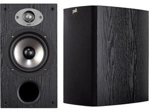 "Polk Audio TSX220 2-Way Bookshelf Speaker with 6-1/2"" Driver - Pair (Black)"