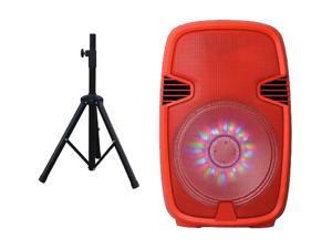 IQ Sound Speaker System - Portable - Battery Rechargeable - Wireless Speaker(s) - Red