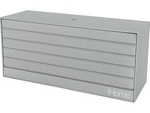 iHome iBN27 Portable Bluetooth Speaker (Silver)