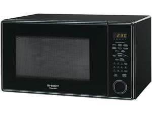 "Sharp R459YK - 1.3 Cu Ft 1000w microwave w/ 12.75"" turntable, Sensor - Smooth Black"