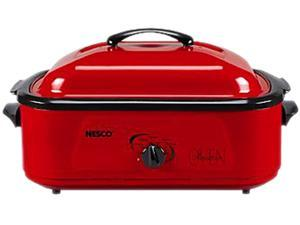 Nesco 4818-12 Nesco 1425-watt, 18-quart professional porcelain roaster oven with red finish