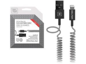 [Apple MFI Certified] 4ft Flex Coiled Lightning to USB Sync and Charge Data Cable 4 ft, iOS 8, Apple iPhone 5 / 5s / 5c / 6 / 6 plus, iPod 7, iPad mini / mini 2 / mini 3
