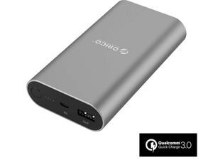 Qualcomm Certified Quick Charge 3.0 ORICO Portable Power Bank 10050mAh Charger External Battery Pack Power Bank for Nexus 6, Galaxy S7/S6/S6 Edge/Note 4/Note Edge, Sony Xperia Z3, Z2, Tablet and More