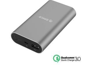 (Qualcomm Certified Quick Charge 3.0) ORICO QS1-BK 10050 mAh Portable Charger External Battery Pack Power Bank for ...