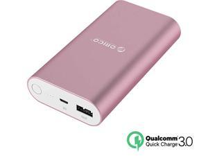 [Qualcomm Certified Quick Charge 3.0] ORICO QS1-PK 10050 mAh Portable Charger External Battery Pack Power Bank for Phones, Tablet and More