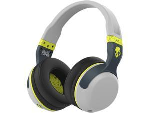 Skullcandy Bluetooth Hesh - Gray/Hot Lime Wireless Bluetooth Headphones