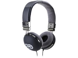 Storm Series Full Size Black Headphones with Mic and Volume