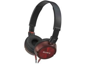 Sony MDR-ZX300 ZX Series Stereo Headphone - Red