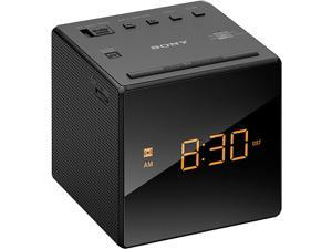 Sony ICF-C1BLACK Alarm Clock with FM/AM Radio, Black