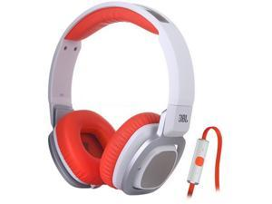JBL J55i High-Performance On-Ear Headphones with Microphone (Orange and White)