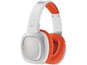 JBL J88i White/Orange DJ-Style Headphones with Mic and Remote for Apple