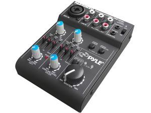 Pyle - 5 Channel Professional Compact Audio Mixer With USB Interface