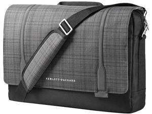 "HP F3W14AA Carrying Case (Messenger) for 15.6"" Ultrabook - Black, Gray"