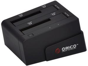 "ORICO 6628SUSC-BK 2 Bays 2.5""/3.5"" HDD Docking Station with Clone Function"