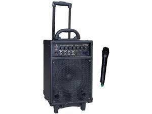 300 Watt Wireless Rechageable Portable PA System With FM/USB/SD W/Handheld Microphone   is there 3.5mm hole to put on speaker stand