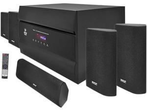 PylePro - 400-Watt 5.1 Channel Home Theater System with AM/FM Tuner, CD, DVD & MP3 Player Compatible