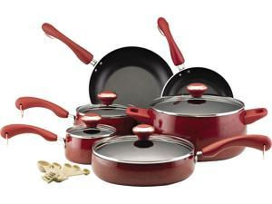 Paula Deen 15-pc. Nonstick Signature Porcelain Cookware Set, Red