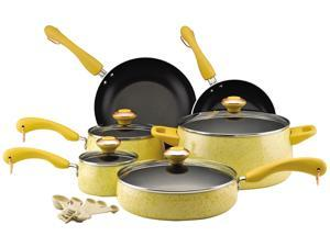 Paula Deen 15-pc. Nonstick Signature Porcelain Cookware Set, Butter
