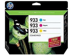 HP 933 Tri-color combo pack Ink Cartridge (B3B32FN#140)- Cyan, Magenta, Yellow
