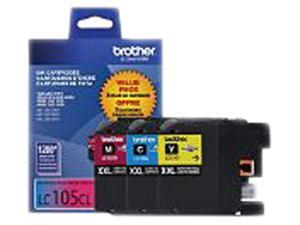 Brother (LC1053PKS) Ink Cartridge 1200 Page Yield&#59; Cyan, Magenta, Yellow