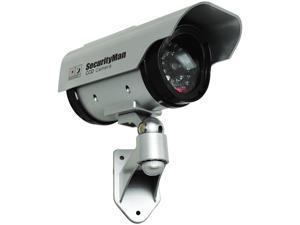 Solar outdoor/indoor dummy camera w/LED