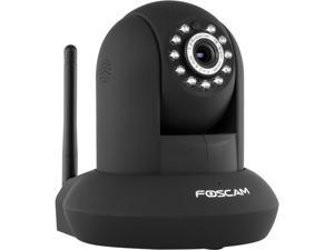Foscam FI9821P-B Plug & Play 1.0 Megapixel 1280 x 720 Wireless Pan / Tilt Night Vision w/ IR-Cut IP Camera (Black)