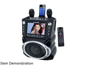 """Karaoke USA GF830 DVD/CDG Karaoke Player with SD Slot MP3G, Bluetooth, 7"""" TFT Color Screen & Recording300 Songs Included!"""