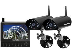 SecurityMan DIGILCDDVR2 Two digital wireless cameras with LCDDVR system Black