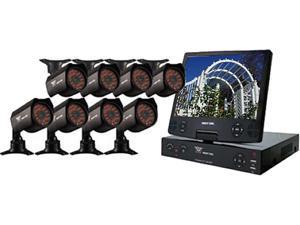 "Night Owl NODVR108-54-685 8 Channel H.264 Level, 8 x 600 TVL, Day&Night Cameras, 10.1"" LCD, 500GB HDD, Surveillance DVR Kit"