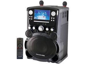 "KARAOKE USA GP975 Professional DVD/CD+G/MP3+G Karaoke System with 7"" Color TFT Display & Recording"