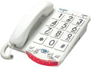 CLARITY 76557.101 Amplified Telephone with Talk Back Numbers (White Buttons)