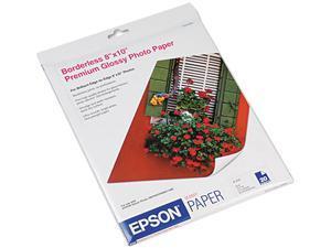 """Epson S041465 Premium Photo Paper 8"""" x 10"""" - High Gloss - 92 Brightness - 20 Sheet - White"""