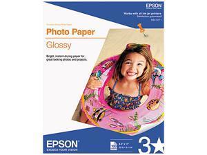 """Epson S041271 Photo Paper Letter - 8.50"""" x 11"""" - Soft Gloss - 89 Brightness - 100 / Pack - White"""