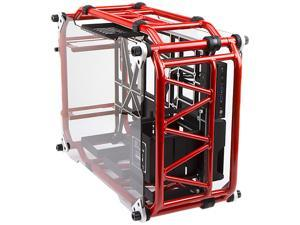 IN WIN D-FRAME Red Red Aluminum ATX Desktop Chassis (Limited Edition), Open-Air design
