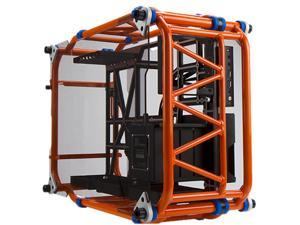 IN WIN D-FRAME Orange Aluminum ATX Desktop Chassis (Limited Edition), Open-Air design