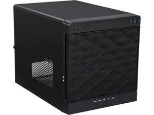 IN WIN IW-MS04-S2-S265 Black 0.8 mm SGCC Mini ITX (M/B cooler maximum 65mm) Tower Mini 4 Bay Server Tower with 265Watts 80+ bronze Flex ATX power supply