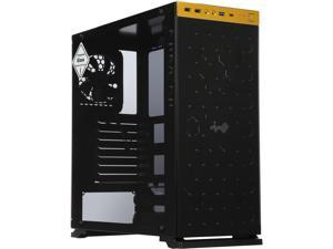 IN WIN 805 GOLD / Black Aluminum / Tempered Glass ATX Mid Tower Computer Case Compatible with ATX 12V/EPS (up to 220mm) Power Supply