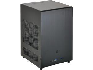 LIAN LI PC-Q04B Black Aluminum Computer Case ATX PSU (Optional) Power Supply