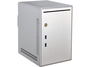 LIAN LI PC-Q20A Silver Aluminum Computer Case SFX  PSU (Optional) Power Supply