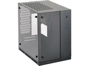 LIAN LI PC-Q37WX Black Aluminum / Tempered Glass Mini-ITX Computer Case SFX PSU (Optional) Power Supply