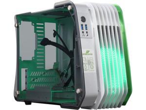 ENERMAX ECB2010G Green LED Aluminum / Tempered Glass ATX Mini Tower Computer Case Standard SFX Type Power Supply