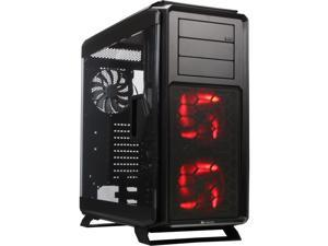 Corsair Graphite Series 760T Black Windowed Gaming Case with two 140mm red LED fans