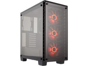 Corsair Crystal Series 460X RGB  CC-9011101-WW Black ATX Mid Tower Computer Case