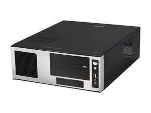 APEVIA Black / Silver SECC Steel / Aluminum X-MASTER-AL/500 ATX Media Center / HTPC Case